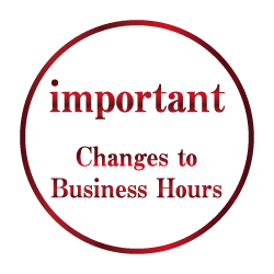 Notice of Partial Changes to Business Hours due to US Memorial Day